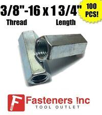 Qty 100 38 16 X W916 X L 1 34 Coarse Grade A Hex Rod Coupling Nut Zinc