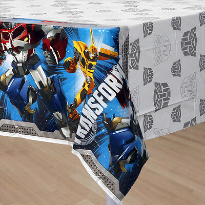 """Transformers Party Supplies TABLE COVER / TABLE CLOTH 54"""" x 96"""""""