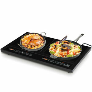 Electric-Dual-Induction-Cooker-Cooktop-1800W-Countertop-Double-Burner-Portable
