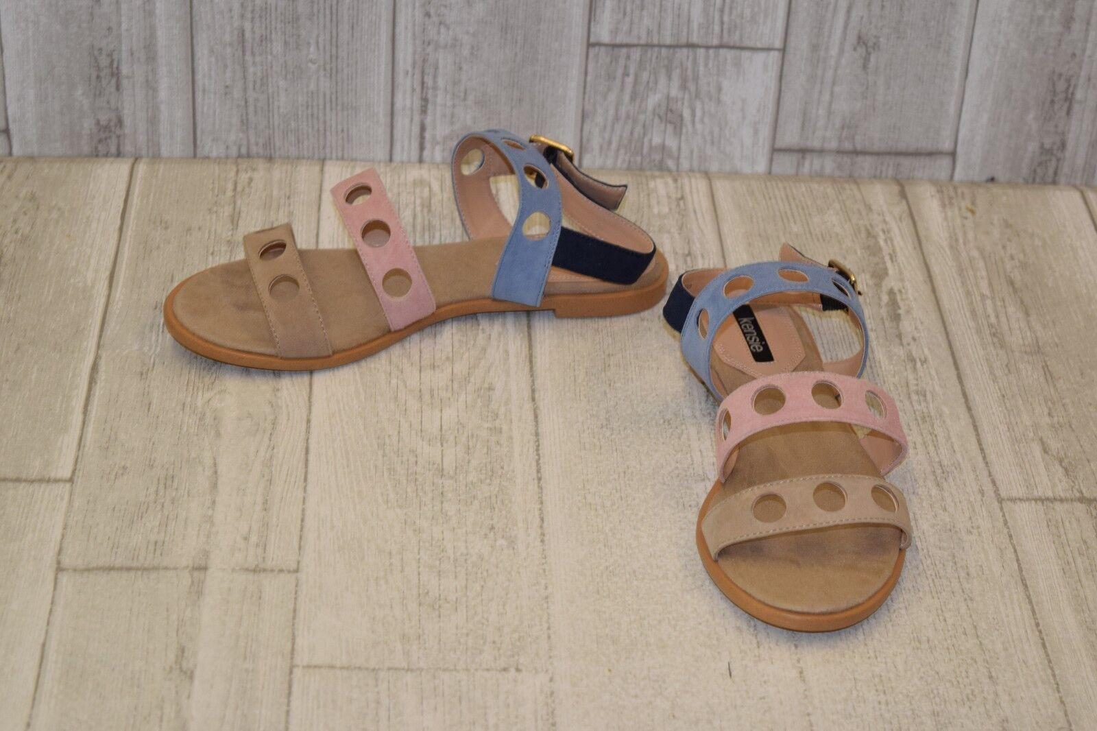 Kensie Marigold Suede Sandal, Women's Size 7.5 M, Pastel multi