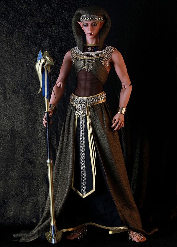 Nuevo ID75 cuerpo BJD SD muñeca el faraón Narmer (vampiro cabeza) con los ojos + Reemplazo