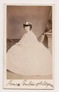 Vintage-CDV-Mary-Waldegrave-Countess-waldegrave-Bassano-Photo