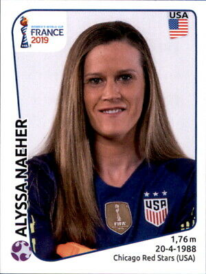 Ehrgeizig Panini Frauen Wm 2019 Sticker 406 - Alyssa Naecher - Usa Kann Wiederholt Umgeformt Werden.