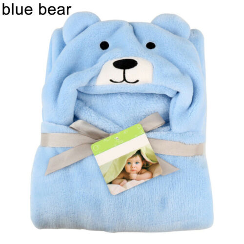 EP/_ Baby Infant Toddler Bath Towel Soft Warm Wrap Hooded Robe Cloak Blanket Eyef
