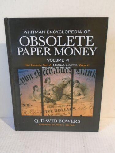Whitman Encyclopedia Obsolete Paper Money Vol 3 /& 4 New England Massachusetts