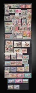 1958-1959-1960-1962-1963-1964-1965-67-LAOS-LOT-COMPLETE-ISSUES-MINT-NEVER-H