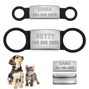 Personalised-Slide-On-Dog-ID-Tags-Stainless-Steel-No-Noise-Pet-Cat-Collar-Tags