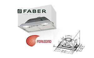 Cappa cucina incasso 52cm filtri inox inca smart hc x a52 faber ebay - Filtri per cappa cucina ...
