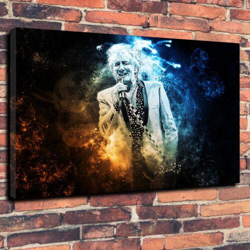 Rod Stewart Scottish Singer Printed Box Canvas Picture Multiple Sizes Rock Music