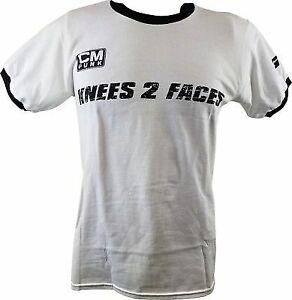 CM-Punk-Knees-2-Faces-25-8-365-White-Ringer-Mens-T-shirt