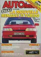 AUTO HEBDO n°544 du 15 Octobre 1986 GP MEXIQUE R11 TURBO TVR 350