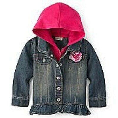 Baby & Toddler Clothing Reasonable Arizona Brand Denim Hoodie Swacket ~ A Jacket & Sweater In One ~ New With Tags