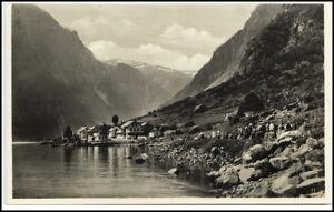 GUDVANGEN-Kommune-Aurland-Brevkort-Postcard-Norge-Norway-Norwegen-1930-40-AK