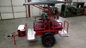 Golf Cart 4 Seat Trailer Club Car Ezgo Pull Behind Atv Utv Tag A Long Ebay