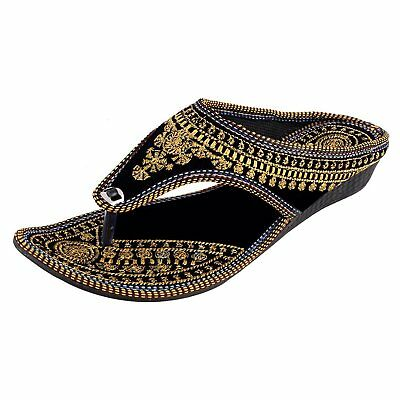 INDIAN SHOES WOMENS SLIPPER ETHNIC SANDAL TRADITIONAL FLIPFLOP SLIPONS THONG US | eBay