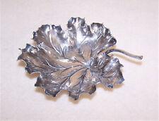 Italian Mario Buccellati 925 Sterling Silver Single Leaf Nut or Candy Dish