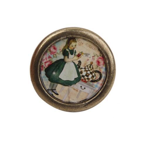 Vintage Retro Kitchen Cabinet Cupboard Door Handle Drawer Bin DIY Knob Pull Girl