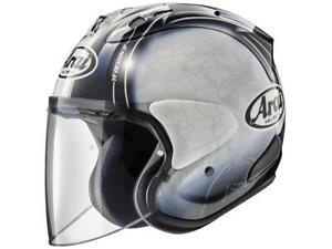 Helmet-Jet-Motorbike-Arai-Sz-R-Vas-Harada-Tour-White-XS-S-L-XL-XXL
