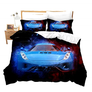 Race Car Bedding Set Full Size for Boys Kids Teens Men Speed Sports Car Extreme