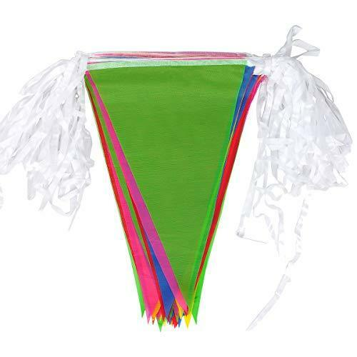 walolo Bunting 50-Meter 35x23cm 164 Feet Multicolor Nylon Pennant Banners