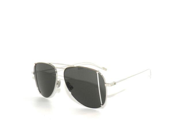 2722eac061 Saint Laurent Silver SL 193 Aviator Sunglasses Unisex 100 Authentic ...