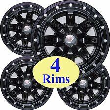 FOUR Aluminum RIMs WHEELs fits some John Deere & Kubota ATV UTV RTV 12x8 5/4.5