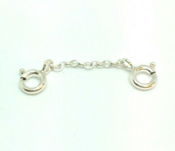 Sterling Silver Necklace Bracelet Extender Safety Chain 1 Inch Long Post Ebay
