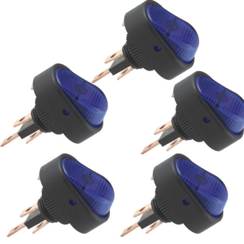 5 X DIY 12V 30A Heavy Duty Blue LED OFF//ON Rocker Toggle Switch Car Auto Sales