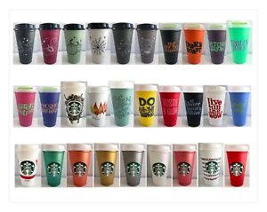 Starbucks Reusable Halloween Fall Christmas Valentines Easter Hot Drink Cups