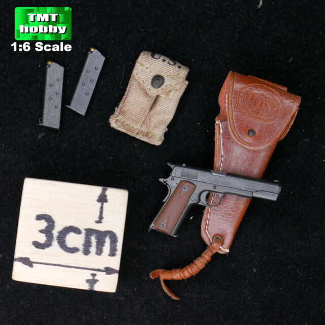 1:6 Scale Soldier Story WWII US Infantry HENRY KANO - Pistol w/ Holster & Pouch