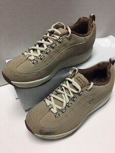 Skechers Beige Taupe Shape Ups Walking Athletic Womens Sneakers Shoes 9 A035