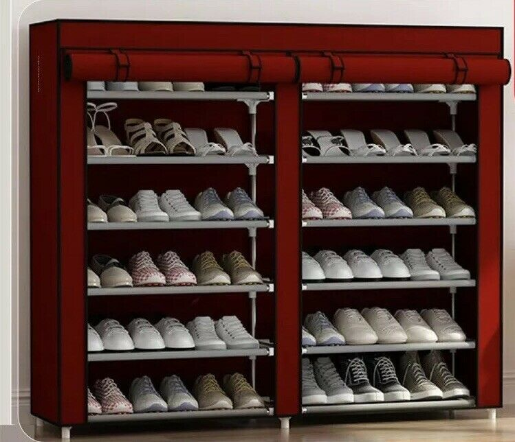 A schuhe Cabinate With Steel Frame Coverot Farbe rot And braun