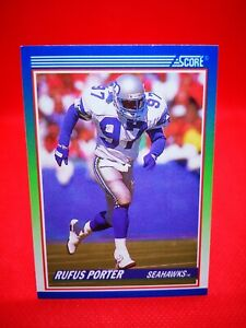 Score 1990 carte card football NFL NM+/M Seattle Seahawks #332 Rufus Porter