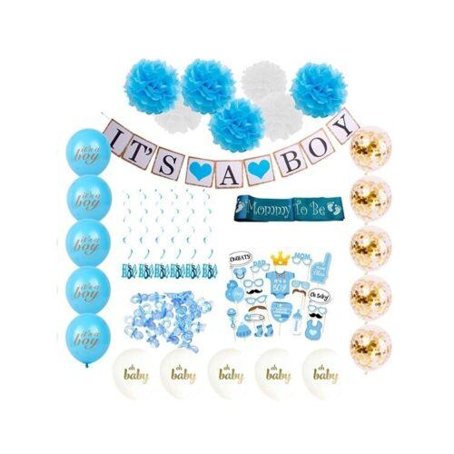 Shärpe uvm. Fotoprops Baby Shower Geburt Party Deko Set 15 Ballons