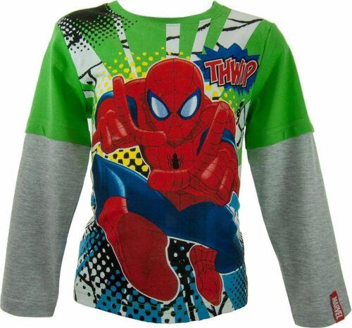 Ragazzi Marvel Spiderman Avengers Ninja Turtles Cartoni Animati GORMITI Minion Maglia a maniche lunghe