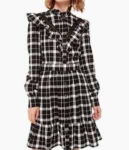 Kate-Spade-Broome-Street-Rustic-Plaid-Flannel-Dress-XS-NEW