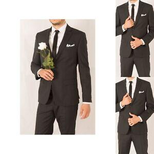 Abiti Eleganti Anni 60 Uomo.Abito Elegante Nero Da Uomo 50 52 58 60 Completo Da Per Cerimonia