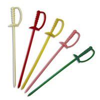 1000 Royal Plastic Cocktail Appetizer Swords Picks Toothpicks - 5 Color Choices
