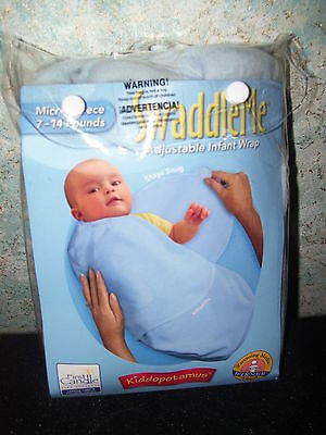 Dedicated Blue Microfleece Swaddle Me, Kiddpotamus, First Candle Gcip