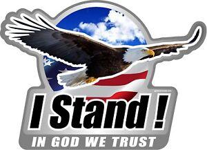 """One ProSticker 308V /""""In God We Trust Police Lives Matter/"""" Bald Eagle decal"""