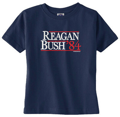 Threadrock Kids Reagan Bush /'84 Toddler T-shirt Vintage Political