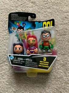 Teen Titans Go 3 Mini Figure Pack Robin Starfire Blackfire Mix /& Match Mattel DC