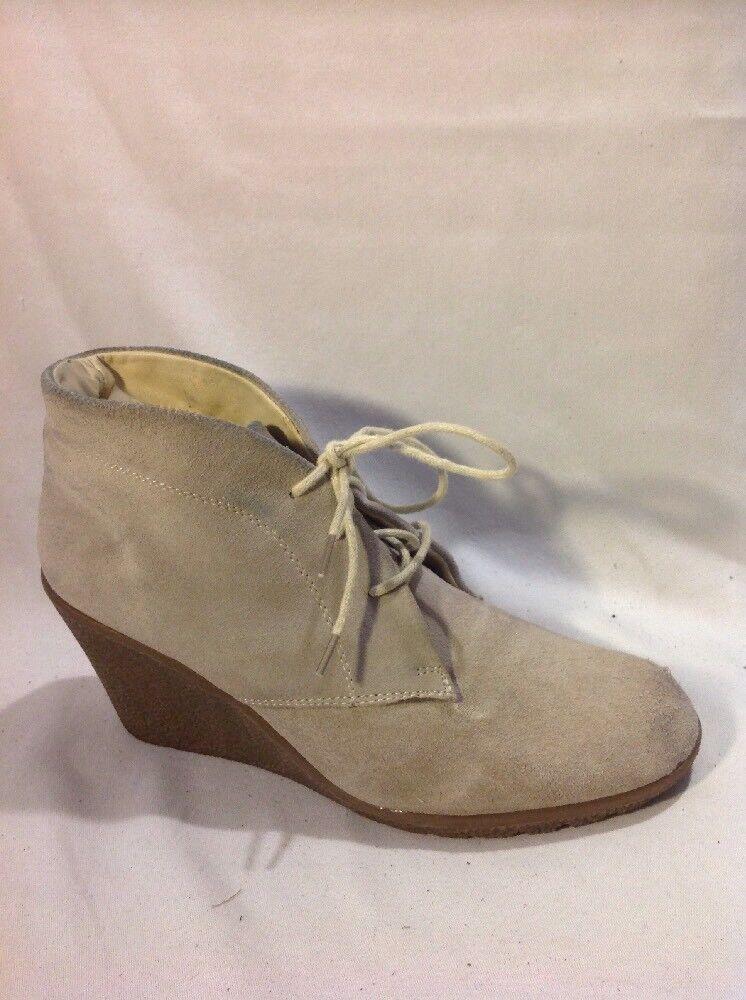 Jobis Beige Ankle Suede Boots Size 38