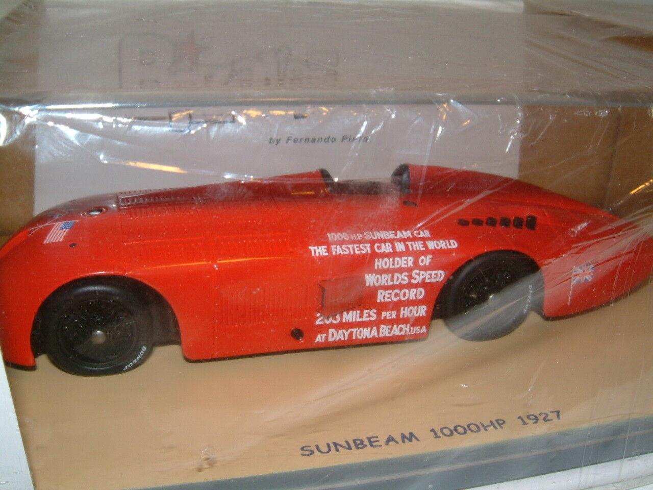 extraño 1927 Sunbeam 1000HP coche registro de velocidad de tierra