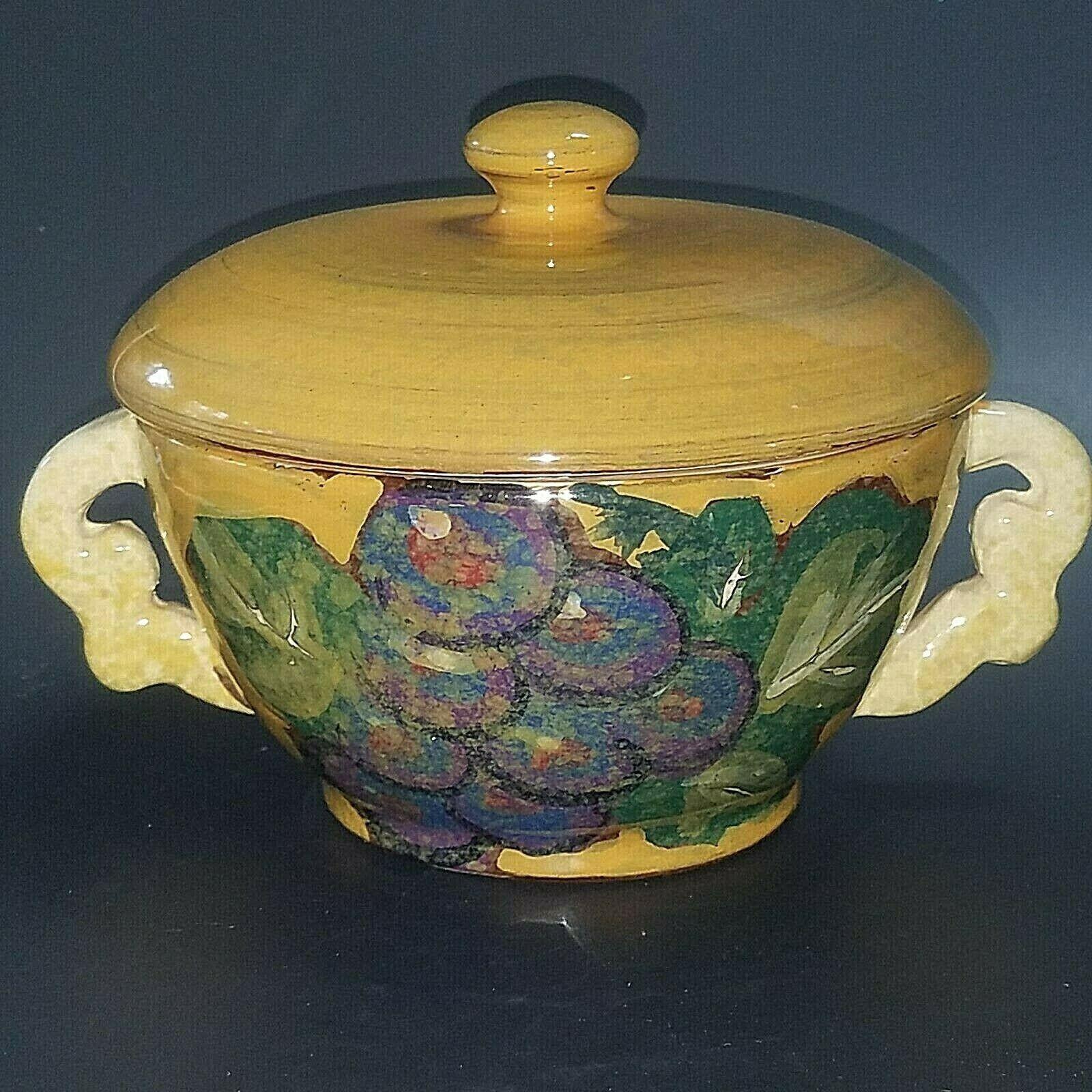 Italian ceramic Arte Italica fruits Serving Bowl & couvercle peint à la main fabriqué en Italie