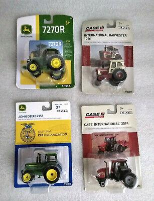 2 Case International Harvester Lot of 4,1//64 Tractors 2 John Deere 4955 7270R