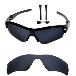 Black-Iridium-Polarized-Replacement-lenses-for-Oakley-Radar-Path-w-Nose-amp-Rubber