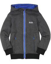 Boys Hugo Boss J25962 849 Hooded Zip Top Navy Sweatshirt