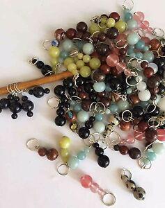 Knitterbabe-Semi-Precious-Bead-Stitch-Markers-x-4-per-set-Up-to-5-5mm-needles