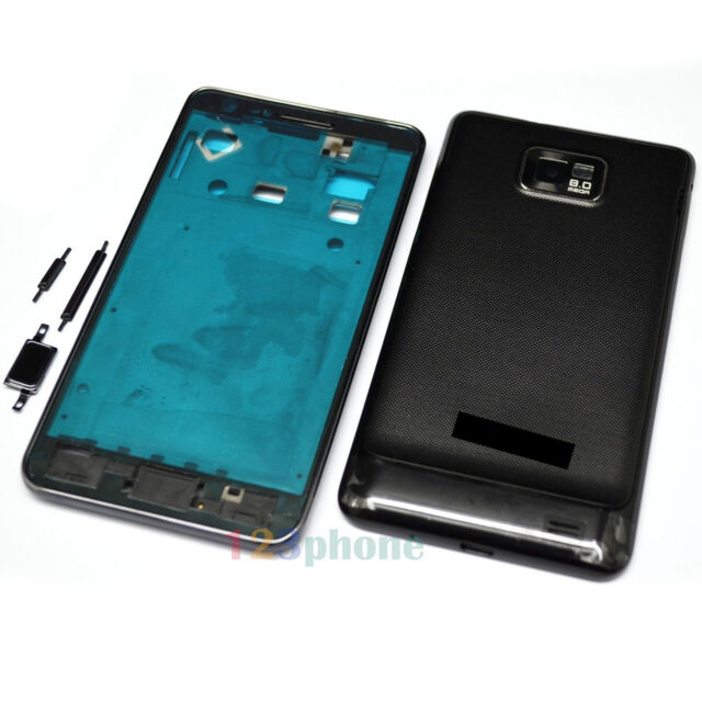 BRAND NEW FULL HOUSING COVER + FRAME + BUTTON FOR SAMSUNG GALAXY S2 i9100 #H353